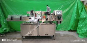 front and Back bottle labeling machine